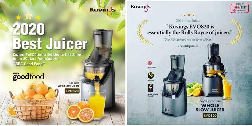Kuvings EVO 820 to najlepszy model Kuvings, najczęściej wybierany przez Klientów i nagradzany przez specjalistów z branży