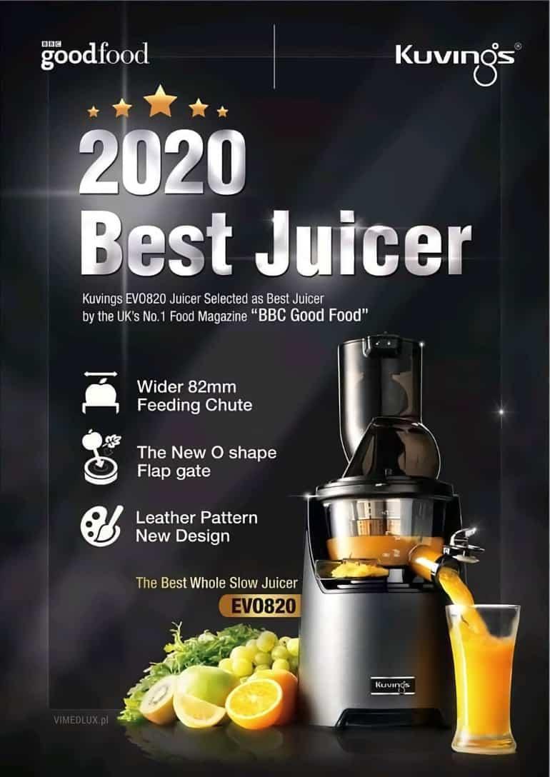 Kuvings EVO820 • Najlepsza wyciskarka 2020 • BBC Food