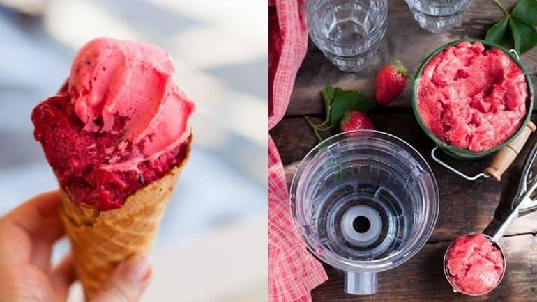 EVO820 z dodatkowymi sitami do lodów i koktajli w cenie wyciskarki. Teraz możesz robić nie tylko soki, ale też pyszne naturalne lody, desery, koktajle i dużo więcej (sita pasuję też do Kuvings D9900)
