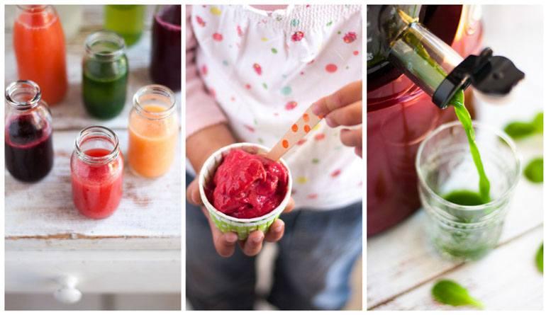 Wystarczy wyciskarka z zestawem sit by przygotować zdrowe desery dla dzieci