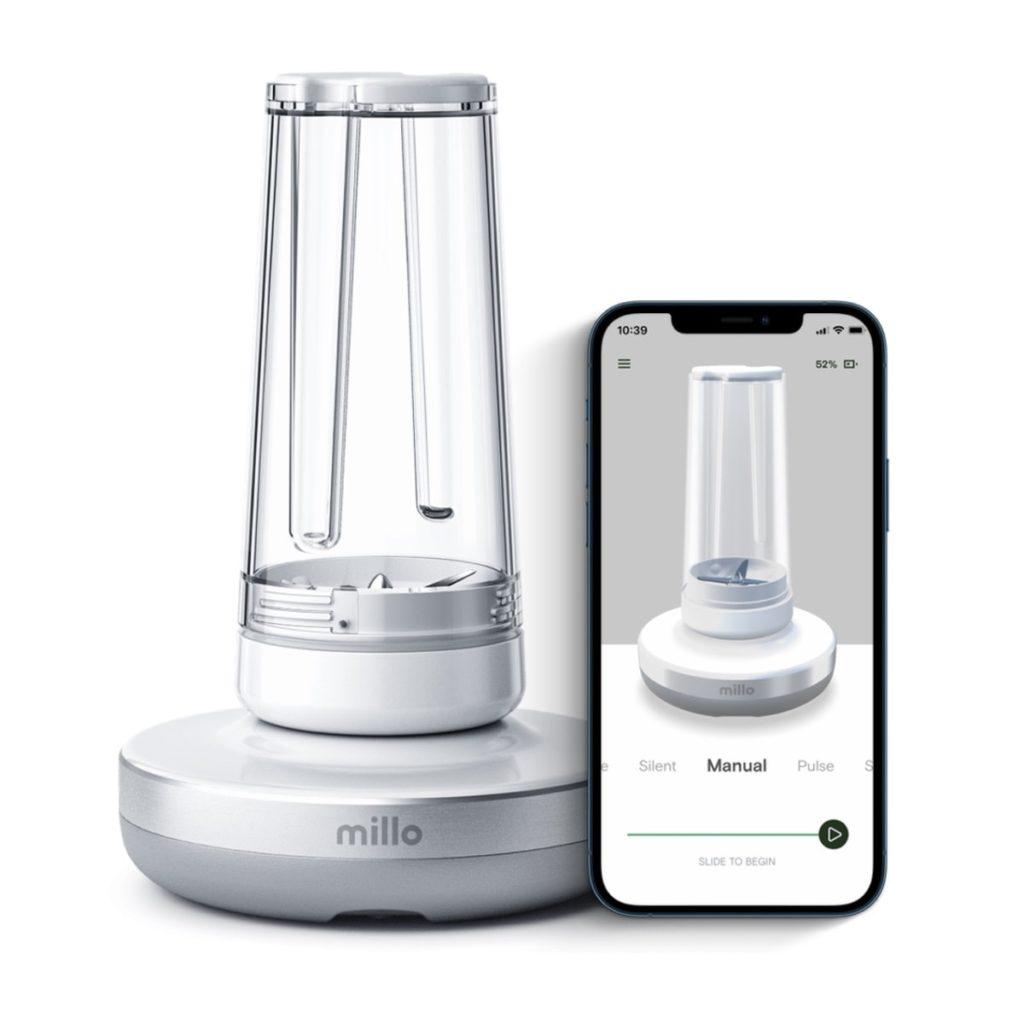 blender Millo z dotykowym panelem 360° i sterowaniem aplikacją na Android i iOS
